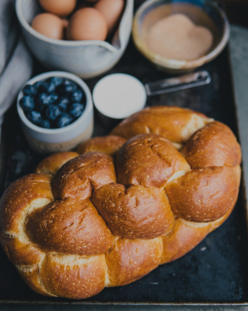 A loaf of challah bread.