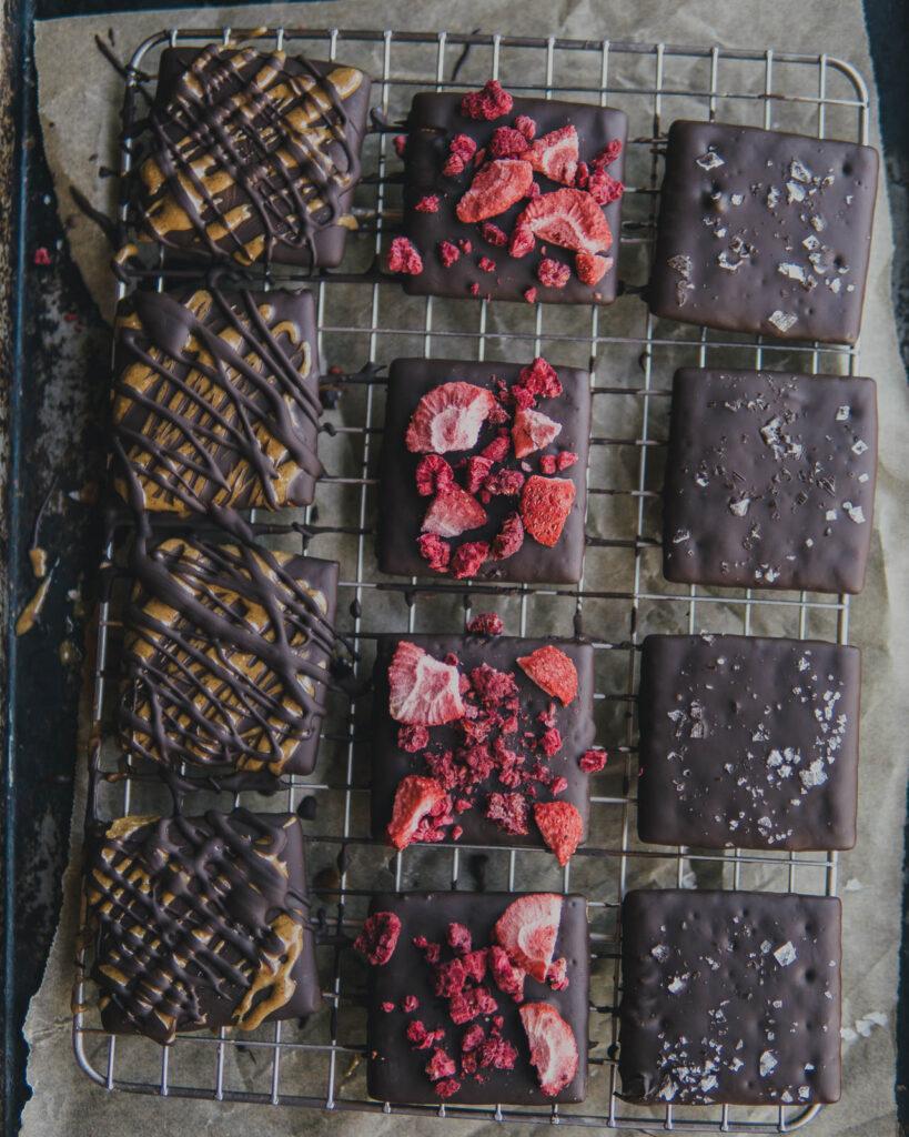 Chocolate covered graham crackers - three ways!